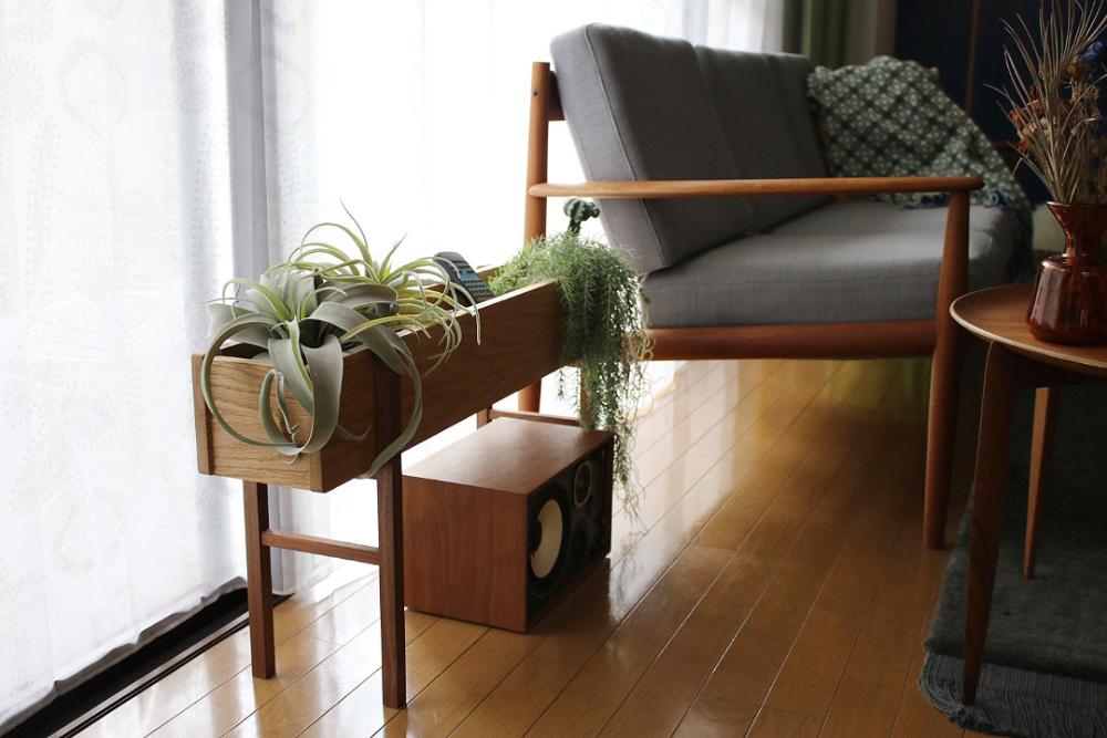 プランターワイド 無垢材家具 インテリアアクセサリー 小物収納 小物整理