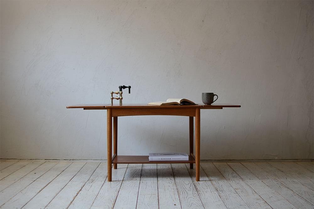 ビンテージ 北欧インテリア チーク オーク サイドテーブル ハンス・ウェグナー