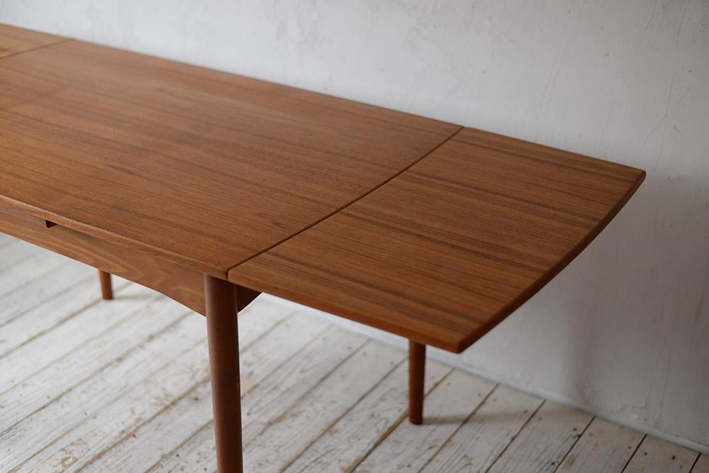 ビンテージ 北欧インテリア ダイニングテーブル チーク ビーチ エクステンションテーブル