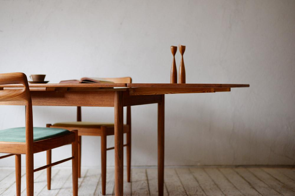 ビンテージ 北欧インテリア ダイニングテーブル チーク エクステンションテーブル
